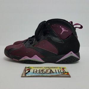 Air Jordan 7 size 1y purple/pink/black